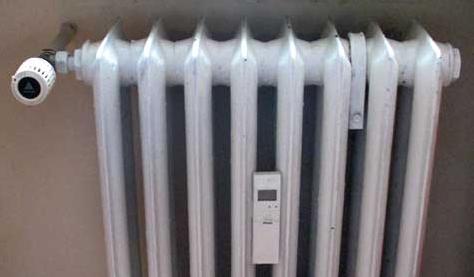 радиатор с топломер
